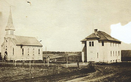 This is a picture of a new school built in 1917.